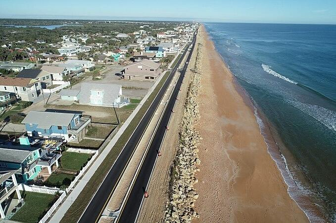 A1A reconstruction in Flagler County, Florida.