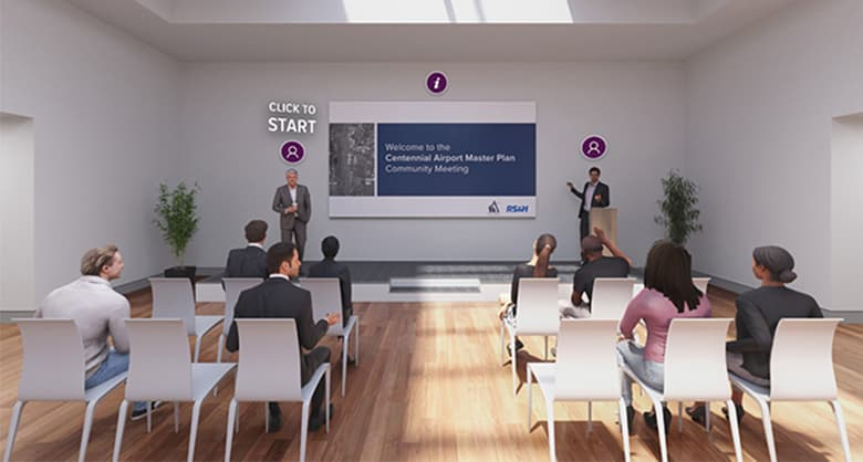 The visualization team mission was tasked to create a aviation virtual public engagement space, it hadn't yet been done before.