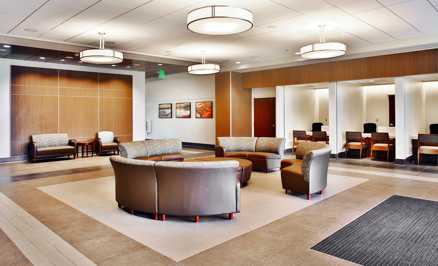 A photo of the new infusion lobby at Celebration AdventHealth.