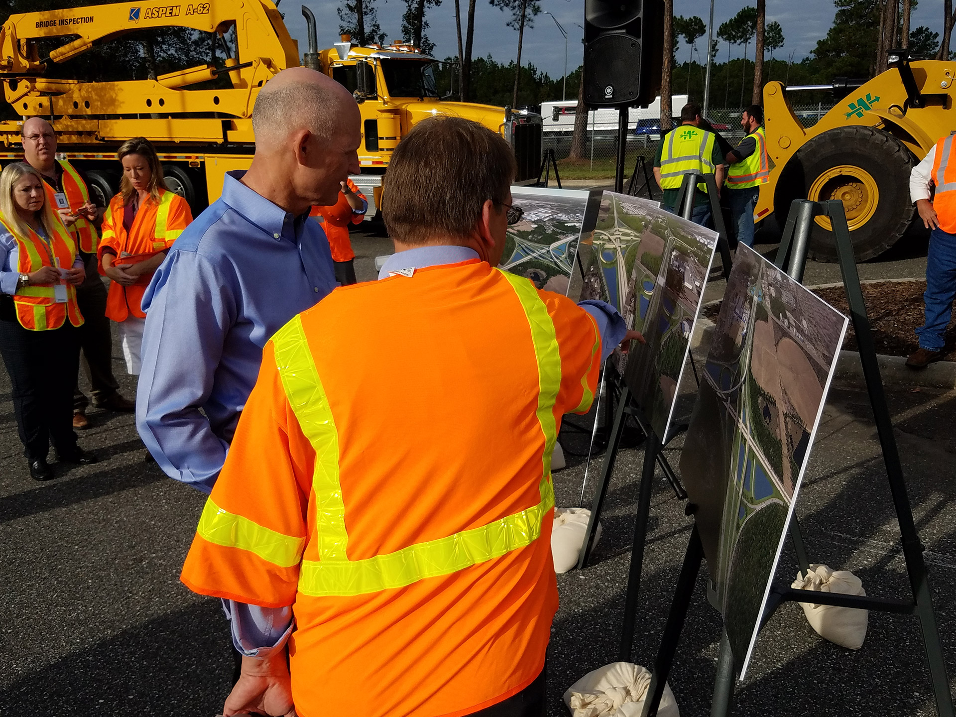Governor Rick Scott at I-95/I-295 Groundbreaking.