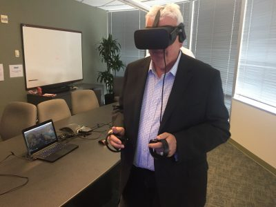 Image of someone using VR Headset.