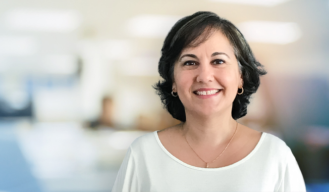Photo of Clara Sidan who is the new transportation water resources group leader in south Florida.