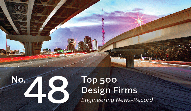 RSandH moves up to number 48 in Engineering News-Record's (ENR) Top 500 Design Firms.