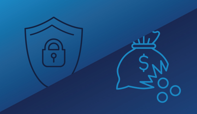 A shield and torn money bag graphic depicting the battle between integrity and corruption in the engineering and construction industries.
