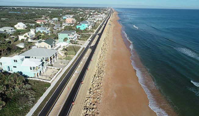 RS&H-Designed SR A1A Project Brings More Resiliency to Flagler Beach.