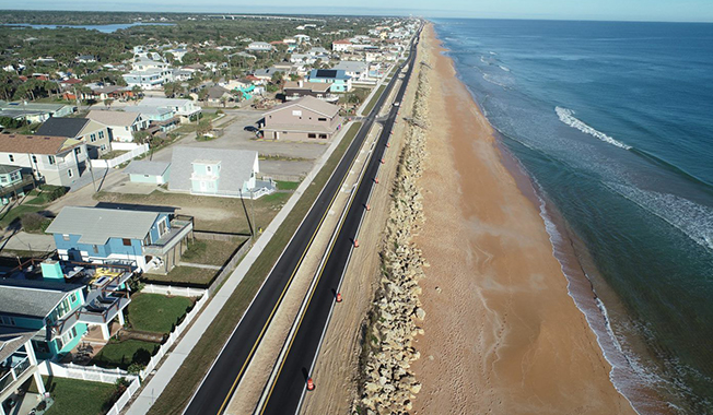 Why resilience is important in Florida - A1A reconstruction after hurricane.