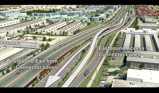 Displaying a 3D diagram during an virtual meeting of a future highway helps increase engagement.